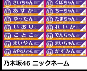 乃木坂46ニックネーム・あだ名まとめ